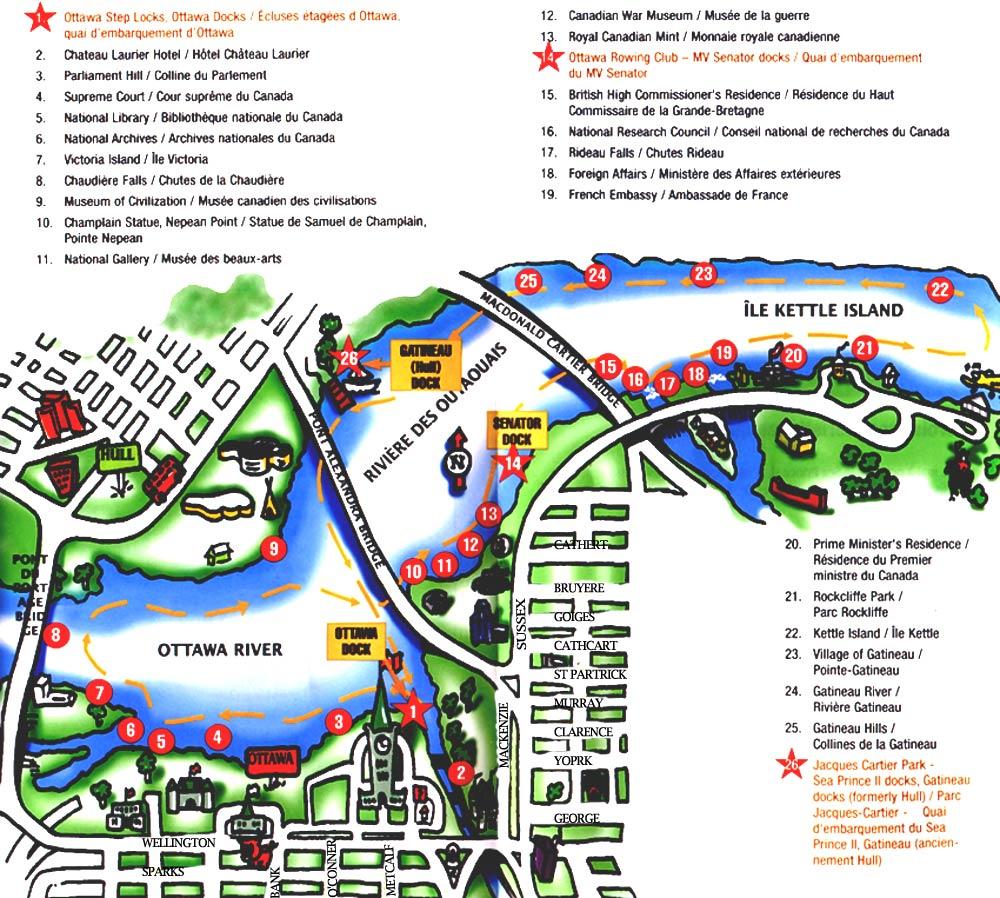 Niagara Falls Canada Attractions Map